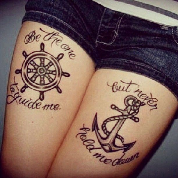 Quote Tattoos Thigh: Best 25+ Ship Wheel Tattoo Ideas On Pinterest