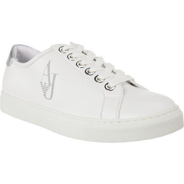 Polbuty Damskie Armanijeans Biale Armani Jeans Bianco 9252207a610 00010 White Sneaker Armani Jeans Shoes
