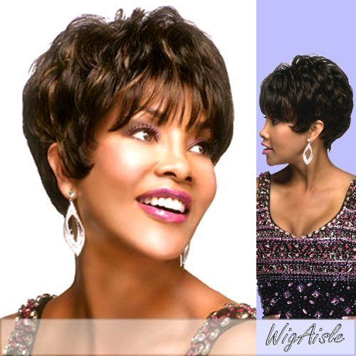 H205-V (Vivica A. Fox) - Human Hair Full Wig in FS1B_27 by Vivica A. Fox. $49.98. Color shown is FS4/27. Styling required to achieve the exact look shown. The color you receive may vary from the swatch shown due to your monitor and the distribution of the color fibers dictated by the style.. Color FS1B_27 is OFF BLACK WITH LITE AUBURN FROST. Human Hair Full Cap Wig. Short length. Wavy style. Average cap size. Color FS1B_27 is OFF BLACK WITH LITE AUBURN FROST (Color shown ...