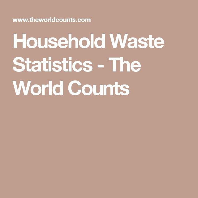 Household Waste Statistics - The World Counts