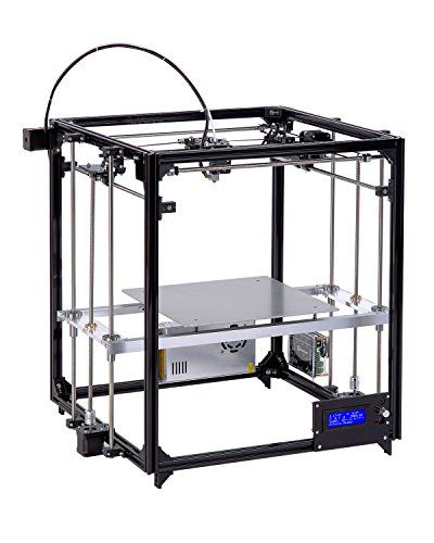 3d Printer DIY Kit Auto Leveling Cube Full Metal Square Large printing size 260X260X350 with heated Bed Precision  The Aluminum structure Square 3d printer kit include: √The heated print bed √Auto level system √One switch power 12V 30A √2 rolls of filaments √Another spare nozzle √SD card √LCD DisplayAluminum alloy frame construction meeting European design standards, together with High quality of the nuzzle and heated bed, making the printing process stable and accurateZ-axis with ..