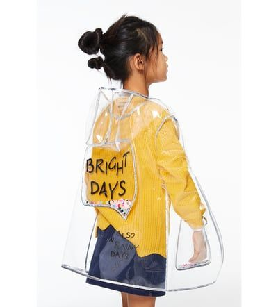 Image 2 of TRANSPARENT RAINCOAT WITH SEQUINS from Zara