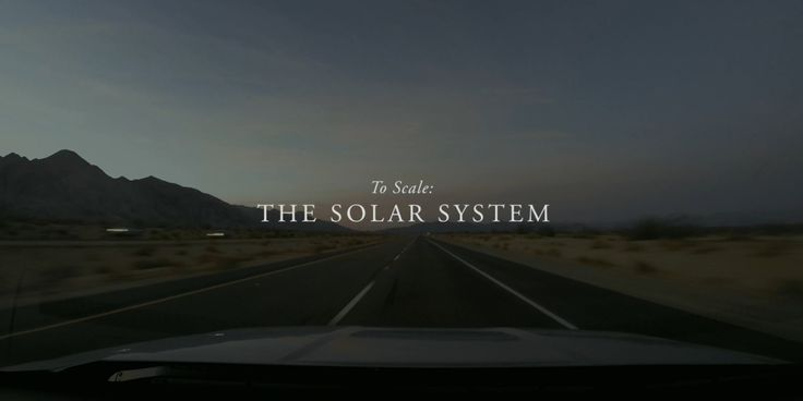 To Scale: The Solar System -- Great, great video. It's really amazing and I hadn't realized the information I obtained.