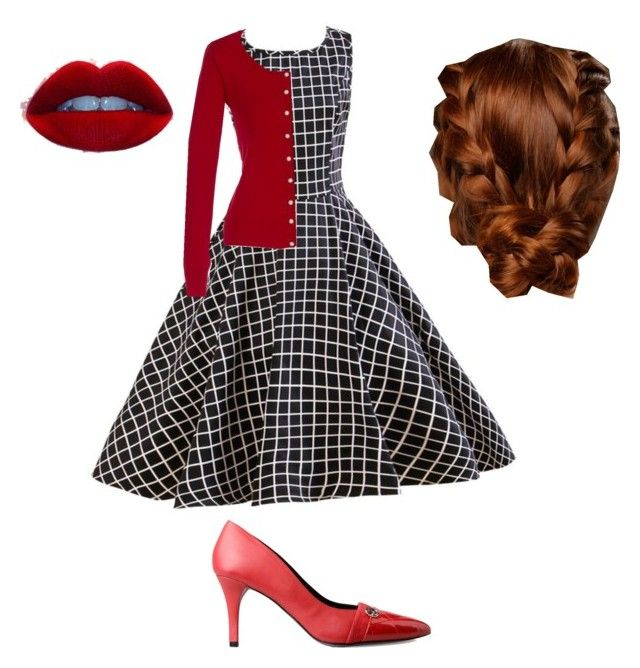 """""""I Love Lucy Costume"""" by sixstrings612 ❤ liked on Polyvore"""