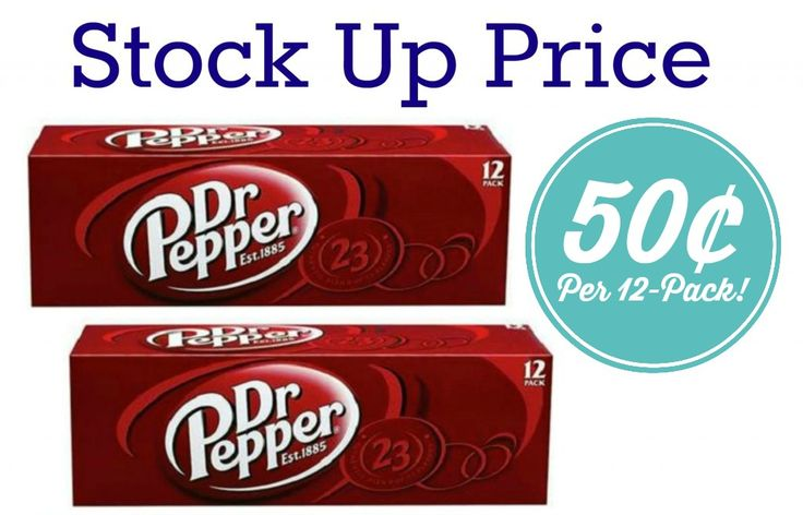 Stock Up Price on Soft Drinks | Dr. Pepper, Coke