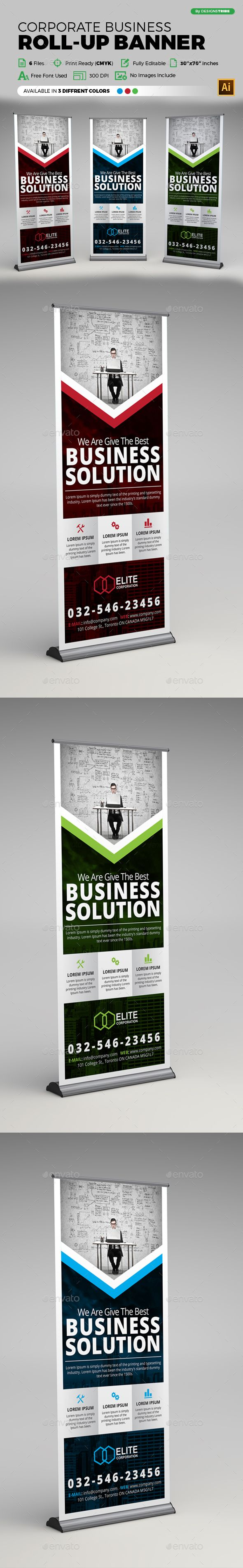 Corporate Business Roll-up Banner Template. This layout is suitable for any business. Very easy to use and customize.  ...........