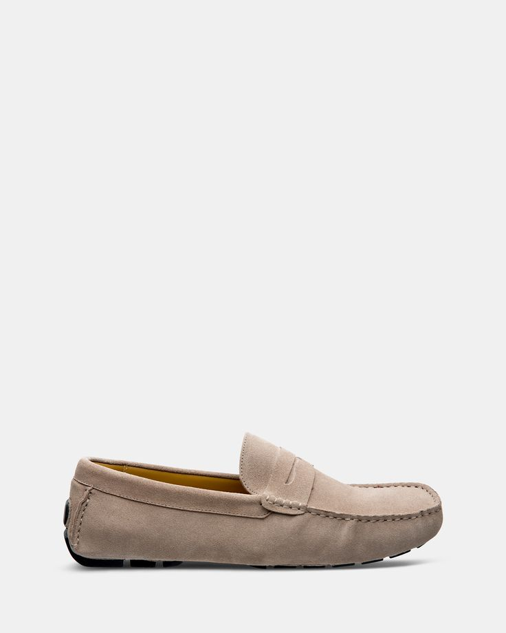 FÅNE - Flap Taupe Suede Loafers