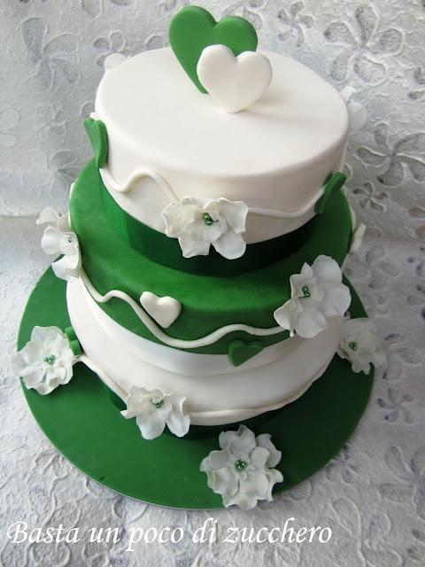 Torta 40 anni di matrimonio (nozze di smeraldo) Basta un poco di zucchero...