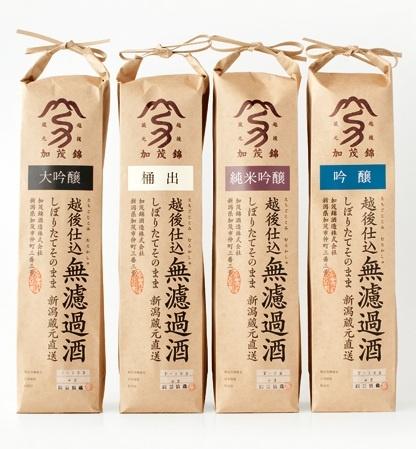 越後仕込 無濾過酒: Japanese sake package: designed by Suisei