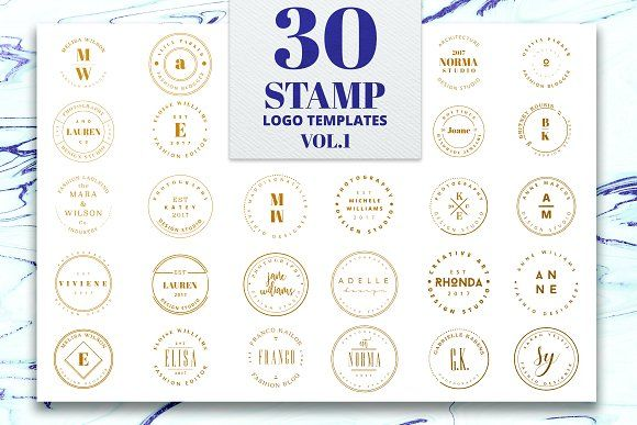 Stamp Premade Logo Templates Vol.1 by IsikChic on @creativemarket
