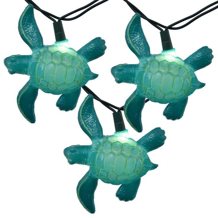 Sea Turtle String Lights - Teal
