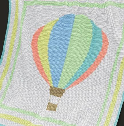 Knitting Pattern | Baby Blanket / Afghan - Hot Air Balloon