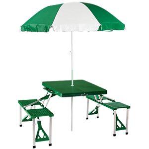 Folding Picnic Table with Umbrella