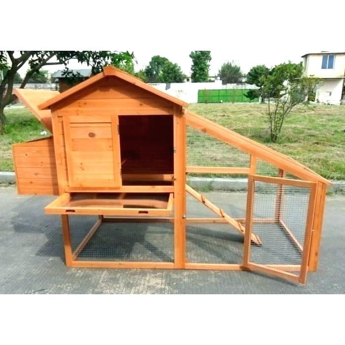 ChickenCoopOutlet Backyard Wood Chicken Coop Hen House 4-6 Chickens with 6 Nesting Box New