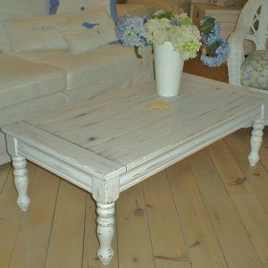 Shabby Chic Round White Coffee Table
