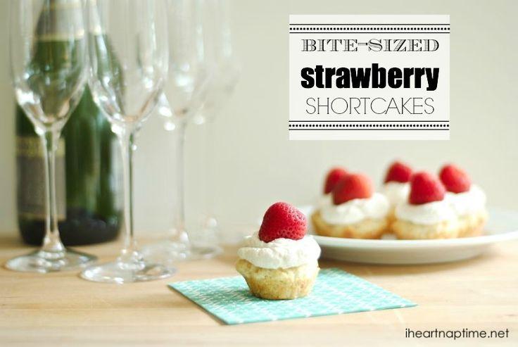Bite-Sized Strawberry Shortcakes I Heart Nap Time   I Heart Nap Time - Easy recipes, DIY crafts, Homemaking