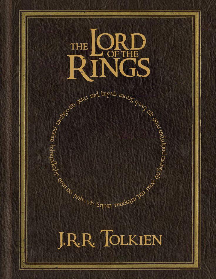 Relación de lo simbolizado por el objeto símbolo. En la trilogía de Tolkien, el anillo es el objeto en torno al cual gira la trama, en este caso, se ha usado la inscripción que lleva el anillo para relacionarlo con lo que pretenden representar.