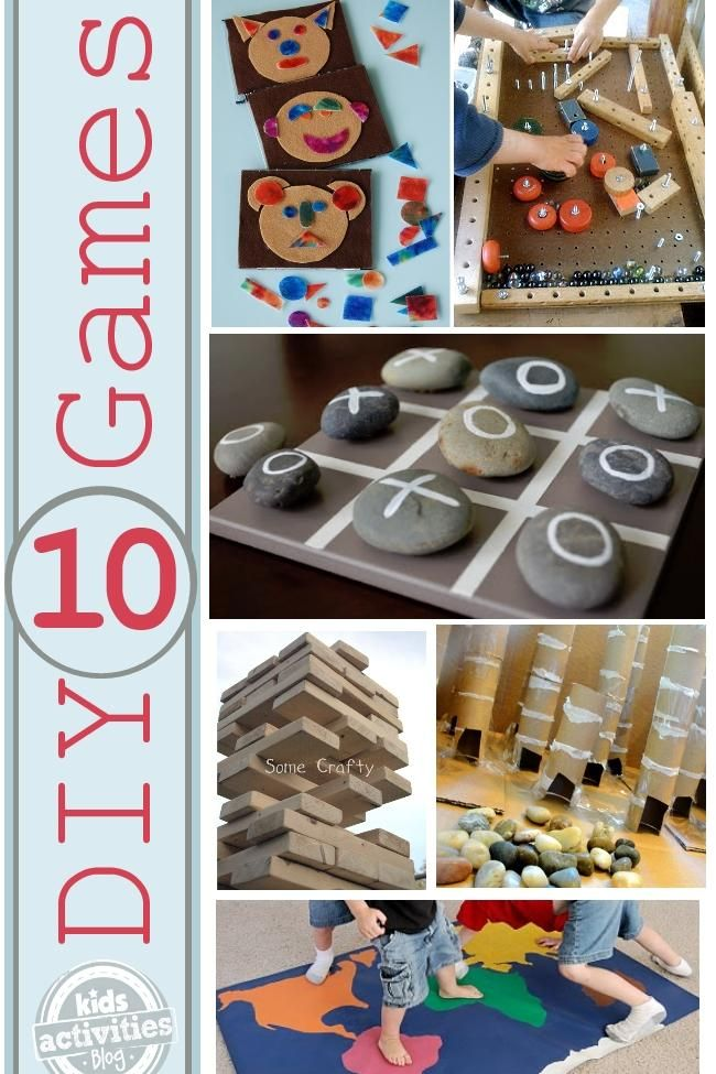 10 games to make with and for your kids.: Kids Stuff, Rivers Rocks, Diy Games, Kids Activities, 10 Games, Dice Games, Kids Crafts, Kiddo Crafts Games Learning, Playground Ideas