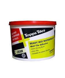 Topps Tiles Waterproof Tile Adhesive x26ltulx26gtx26ltlix26gtWaterproof ceramic wall tile adhesive.x26ltlix26gtx26ltlix26gtEasy to apply.x26ltlix26gtx26ltlix26gtNon Slip Properties.x26ltlix26gtx26ltlix26gtSuitable for use in power shower http://www.MightGet.com/february-2017-2/topps-tiles-waterproof-tile-adhesive.asp