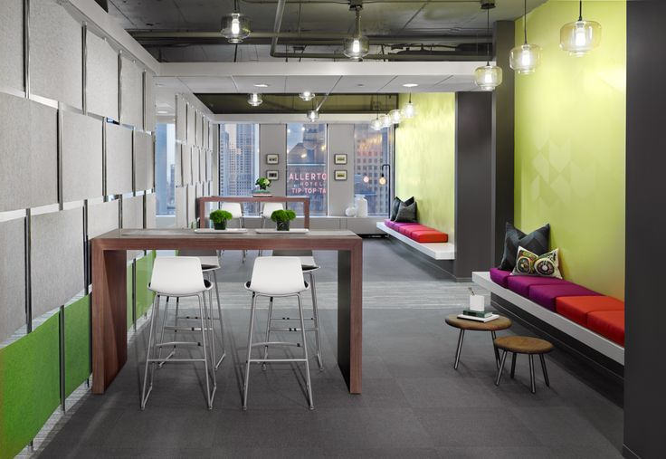 Schlesinger associates chicago illinois office break out space interior design the dobbins