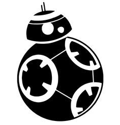 BB-8 Star Wars Silhouette Portrait File
