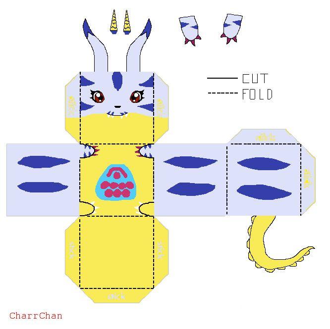 Gabumon Template Papercraft By CharrChandeviantart On DeviantArt