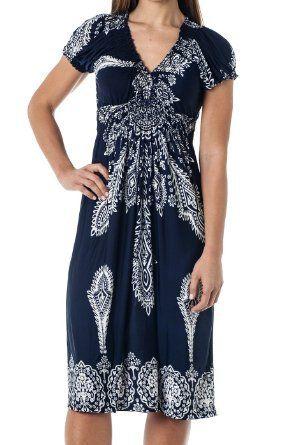 Tunic Top Short Summer beach Sundress coverup - Taj Mahal ( sizes S-3X)
