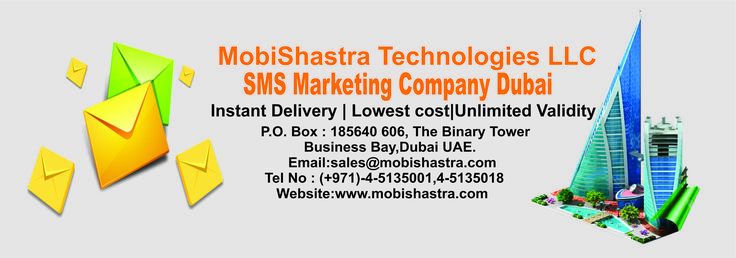 Mobishastra Technologies is one of the leading bulk sms service provider Dubai. With a user friendly interface and cost effective prizes Mobishastra has shown a great presence in UAE