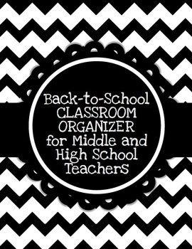 EDITABLE Classroom Organizer for Middle/High School Teache