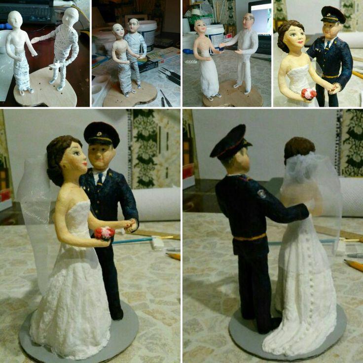 Фигурки жениха и невесты на свадебный торт
