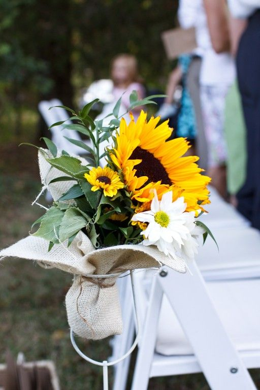 I love the sunflower details of this wedding