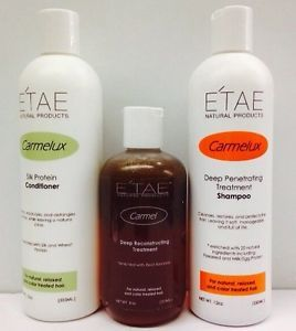 E'TAE Carmelux Shampoo & Conditioner ,carmel Treatment Natural Product Set