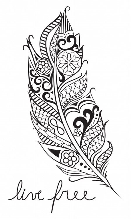 Like the feather with a quite..I dont like the infinity symbol. Its way over used these days