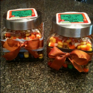 Thanksgiving teacher gifts for Will's teachers @ daycare.