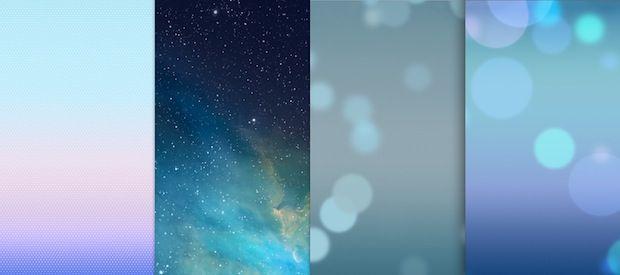 iOS 7 default wallpapers