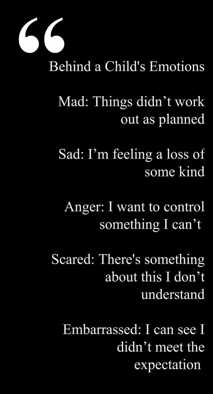 Behind a child's emotions.