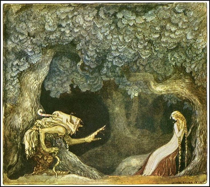 John Bauer (1882 – 1918), Swedish painter and illustrator, (no le conozco, he de buscar algo sobre él...)