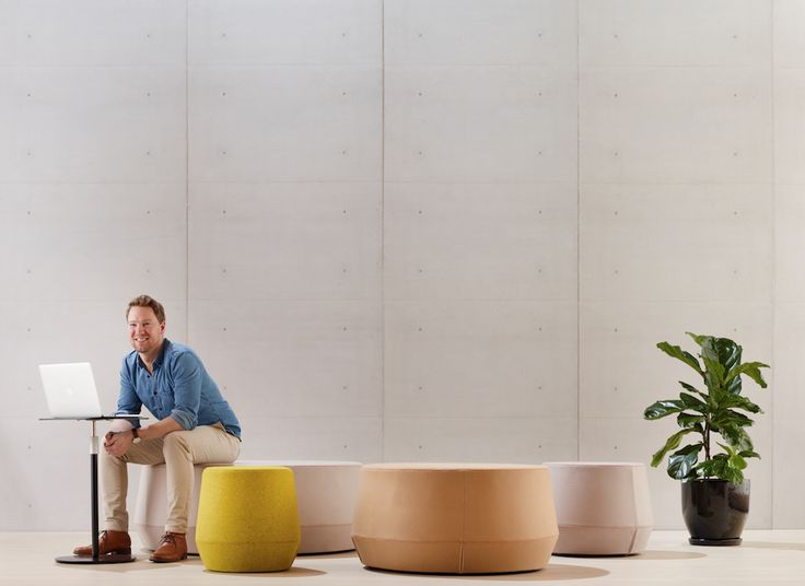 Karo Ottomans are suited to living and office environments.