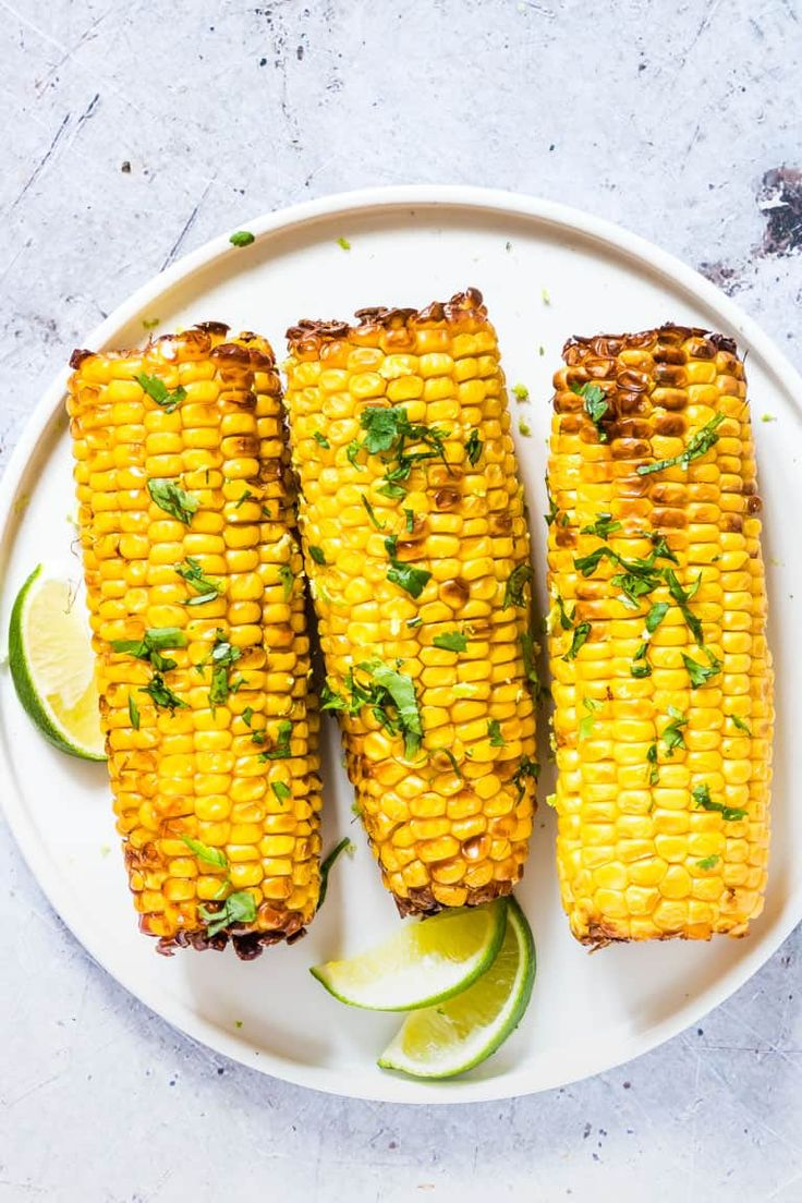 This Mexican Air Fryer Corn On the Cob is juicy and cooked