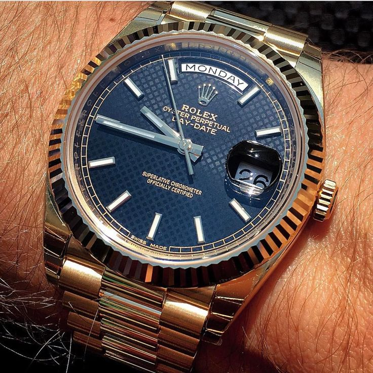 Oyster Perpetual Day-Date blue dial