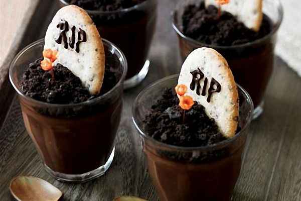 Postre de chocolate para Halloween
