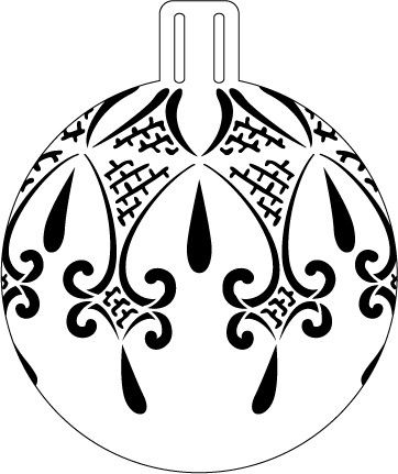 Fancy Lace Ornament Stencil - 5""
