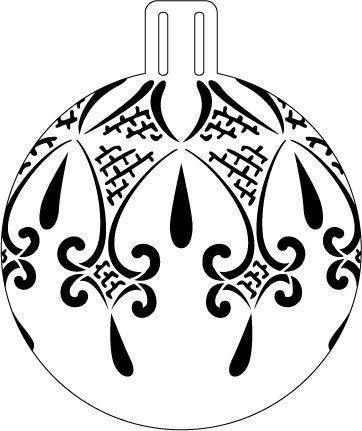 "Fancy Lace Ornament Stencil - 5"""