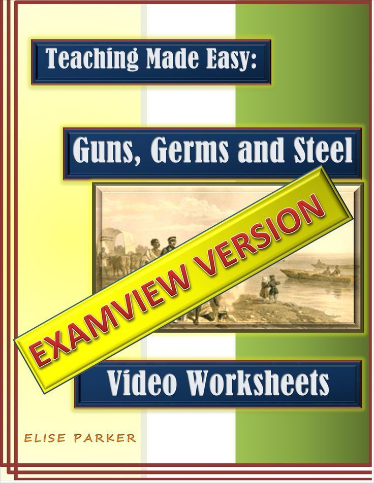 the best guns germs and steel ideas history of  guns germs and steel video worksheets examview version