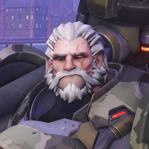 Overwatch - Reinhardt's head (Bundeswehr Skin), Renaud Galand on ArtStation at https://www.artstation.com/artwork/g5VDG