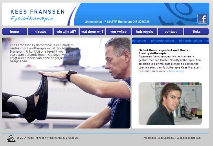 Website voor Fysiotherapie Kees Franssen met eigen CMS in samenwerking met Ben Latten. | www.keesfranssen.nl