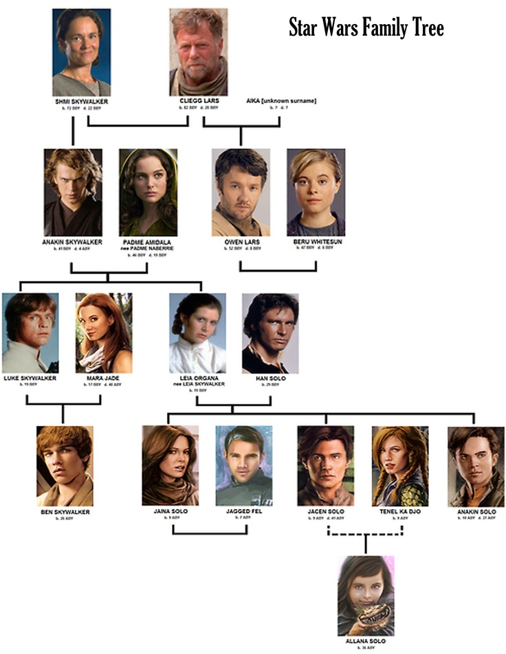 Skywalker family tree.  Source: Club Jade