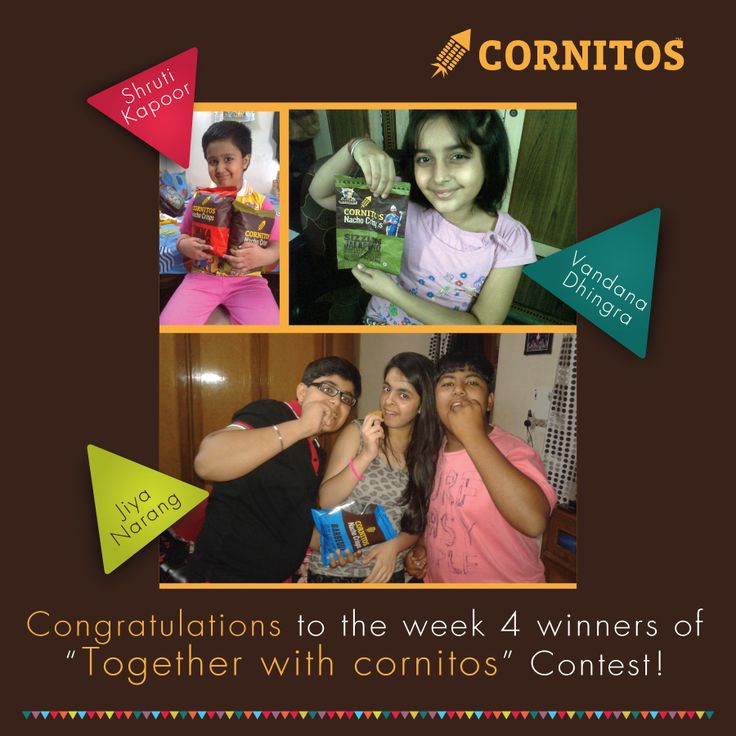 Winners of Together With Cornitos Contest (week 4)