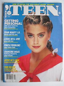 KATHY IRELAND  February 1982 TEEN Magazine TOM SELLECK