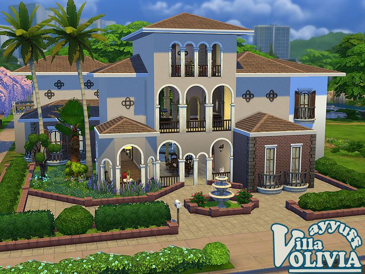 A large family house in mediterranean style found in tsr for A family house